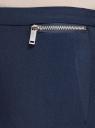 Брюки зауженные с манжетами и декоративными молниями oodji для женщины (синий), 11701033-3/45660/7900N