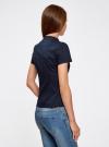 Блузка из фактурной ткани с отстрочками на груди oodji #SECTION_NAME# (синий), 11402088/42287/7900N - вид 3