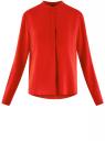 Блузка вискозная А-образного силуэта oodji #SECTION_NAME# (красный), 21411113B/26346/4501N