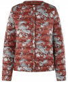 Куртка стеганая с круглым вырезом oodji для женщины (красный), 10204040-1B/42257/4920E