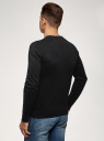 Джемпер хлопковый с длинным рукавом oodji для мужчины (черный), 4B112021M/47167N/2900N