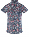 Рубашка хлопковая с нагрудными карманами oodji #SECTION_NAME# (синий), 11402084-3B/12836/7945F