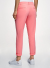 Брюки-чиносы хлопковые oodji для женщины (розовый), 11706207B/32887/4100N - вид 3