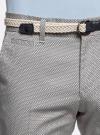 Шорты хлопковые с плетеным ремнем oodji #SECTION_NAME# (слоновая кость), 2L600011M/39344N/3079G - вид 4