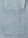 Кардиган меланжевый с капюшоном oodji #SECTION_NAME# (бирюзовый), 63207195/48106/6C10M - вид 5