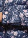 Куртка стеганая с круглым вырезом oodji #SECTION_NAME# (синий), 10203072B/42257/7919F - вид 5