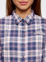 Рубашка принтованная хлопковая oodji для женщины (синий), 11406019/43593/7540C