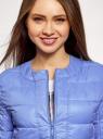 Куртка стеганая с круглым вырезом oodji #SECTION_NAME# (синий), 10203050-2B/47020/7502N - вид 4