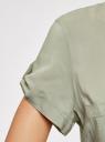 Блузка из вискозы с нагрудными карманами oodji #SECTION_NAME# (зеленый), 11400391-4B/24681/6000N - вид 5