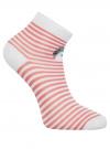 Комплект из трех пар хлопковых носков oodji для женщины (разноцветный), 57102418-5T3/48418/14