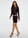 Платье трикотажное с ремнем oodji #SECTION_NAME# (черный), 14008010/15640/2900N - вид 6