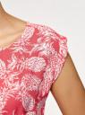 Платье вискозное без рукавов oodji #SECTION_NAME# (красный), 11910073B/26346/4330O - вид 5