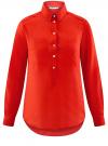 Рубашка хлопковая свободного силуэта oodji #SECTION_NAME# (красный), 11411101B/45561/4500N