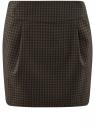 Юбка короткая с карманами oodji для женщины (зеленый), 11605056-3/45839/2966C
