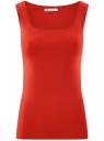 Топ из эластичной ткани на широких бретелях oodji #SECTION_NAME# (красный), 24315002-1B/45297/4500N