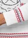 Джемпер вязаный с новогодним узором oodji для мужчины (белый), 4L110055M/25365N/1219J