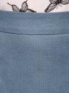 Юбка прямая классическая oodji #SECTION_NAME# (синий), 21601254-5/45503/7000N - вид 5