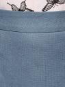 Юбка прямая классическая oodji для женщины (синий), 21601254-5/45503/7000N
