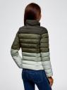 Куртка утепленная на молнии oodji #SECTION_NAME# (зеленый), 10203034-2B/33743/6069B - вид 3