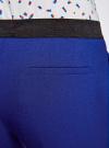 Брюки укороченные на эластичном поясе oodji #SECTION_NAME# (синий), 11706203-5B/14917/7500N - вид 5