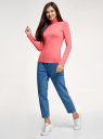 Водолазка хлопковая oodji для женщины (розовый), 15E02001B/46147/4100N