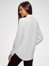 Блузка вискозная с нагрудными карманами oodji #SECTION_NAME# (белый), 21411126-1/48458/1200N - вид 3