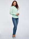 Рубашка базовая приталенного силуэта oodji #SECTION_NAME# (зеленый), 13K03003B/42083/7301N - вид 6