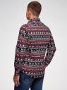 Рубашка приталенная с новогодним принтом oodji #SECTION_NAME# (разноцветный), 3L110347M/19370N/7912G - вид 3