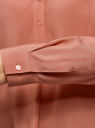 Блузка вискозная А-образного силуэта oodji #SECTION_NAME# (розовый), 21411113B/42540/4B02N - вид 5