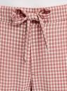 Брюки укороченные на завязках oodji #SECTION_NAME# (розовый), 11703098-1/49967/4112C - вид 4