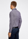 Рубашка хлопковая в мелкую графику oodji #SECTION_NAME# (фиолетовый), 3L110279M/19370N/8310G - вид 3