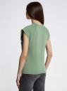 Футболка с летним принтом oodji для женщины (зеленый), 14707001-7/46154/62A0P