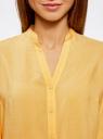 Блузка базовая из вискозы oodji #SECTION_NAME# (желтый), 21412129-1/24681/5200N - вид 4