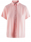 Блузка вискозная свободного силуэта oodji #SECTION_NAME# (розовый), 11405139/24681/4010D