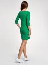Платье трикотажное базовое oodji #SECTION_NAME# (зеленый), 14001071-2B/46148/6D00N - вид 3