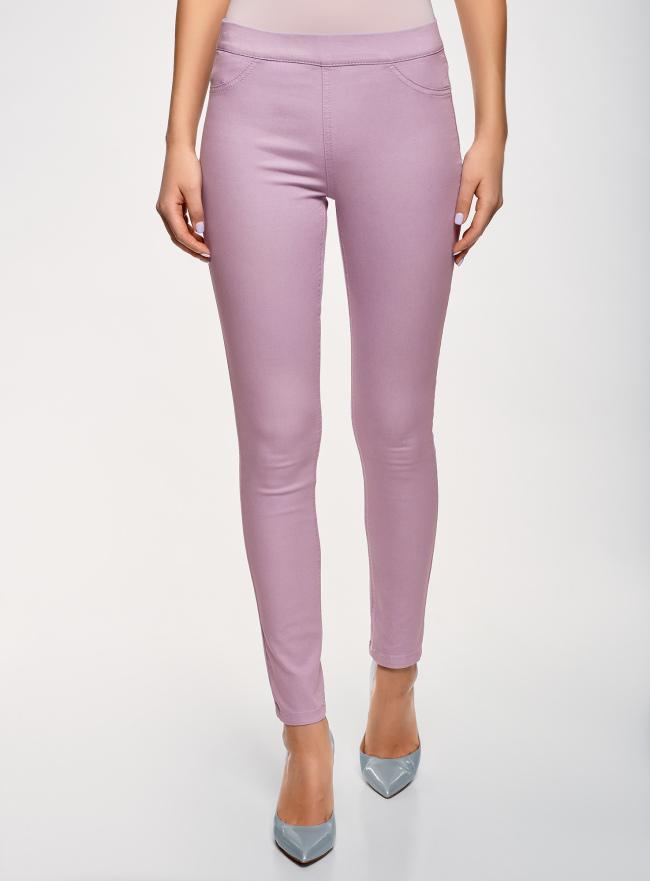 Джинсы-легинсы на эластичном поясе oodji для женщины (фиолетовый), 12104043-7B/46261/8000W