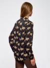 Блузка принтованная из вискозы oodji #SECTION_NAME# (черный), 11411087-1/24681/2935A - вид 3