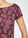 Платье трикотажное с принтом oodji #SECTION_NAME# (красный), 14001117-2/16564/4941E - вид 5