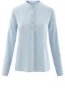 Блузка вискозная А-образного силуэта oodji #SECTION_NAME# (синий), 21411113B/26346/7002N