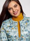 Куртка стеганая с круглым вырезом oodji для женщины (синий), 10203072B/42257/7019F - вид 4