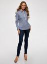 Рубашка приталенная с нагрудными карманами oodji #SECTION_NAME# (синий), 11403222-4/46440/7910S - вид 6