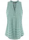 Топ базовый из вискозы oodji для женщины (зеленый), 14911008-1B/48756/6529O
