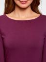 Платье трикотажное облегающего силуэта oodji #SECTION_NAME# (фиолетовый), 14001183B/46148/8301N - вид 4