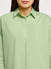 Рубашка свободного силуэта с длинным рукавом oodji для женщины (зеленый), 13K11023/33081/6210S - вид 4