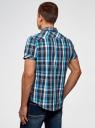 Рубашка клетчатая с нагрудными карманами oodji #SECTION_NAME# (синий), 3L410118M/34319N/796CC - вид 3
