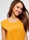 Платье вискозное без рукавов oodji #SECTION_NAME# (желтый), 11910073B/26346/5200N - вид 4