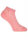 Комплект ажурных носков (3 пары) oodji #SECTION_NAME# (розовый), 57102702T3/48022/6 - вид 3