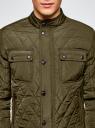 Куртка стеганая с воротником-стойкой oodji для мужчины (зеленый), 1L111033M/44330N/6600N