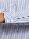Рубашка принтованная с карманами oodji #SECTION_NAME# (синий), 13K03002-2B/45202/1070O - вид 5
