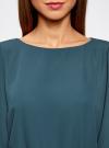 Платье из шифона с ремнем oodji для женщины (зеленый), 11900150-5B/32823/6C00N - вид 4